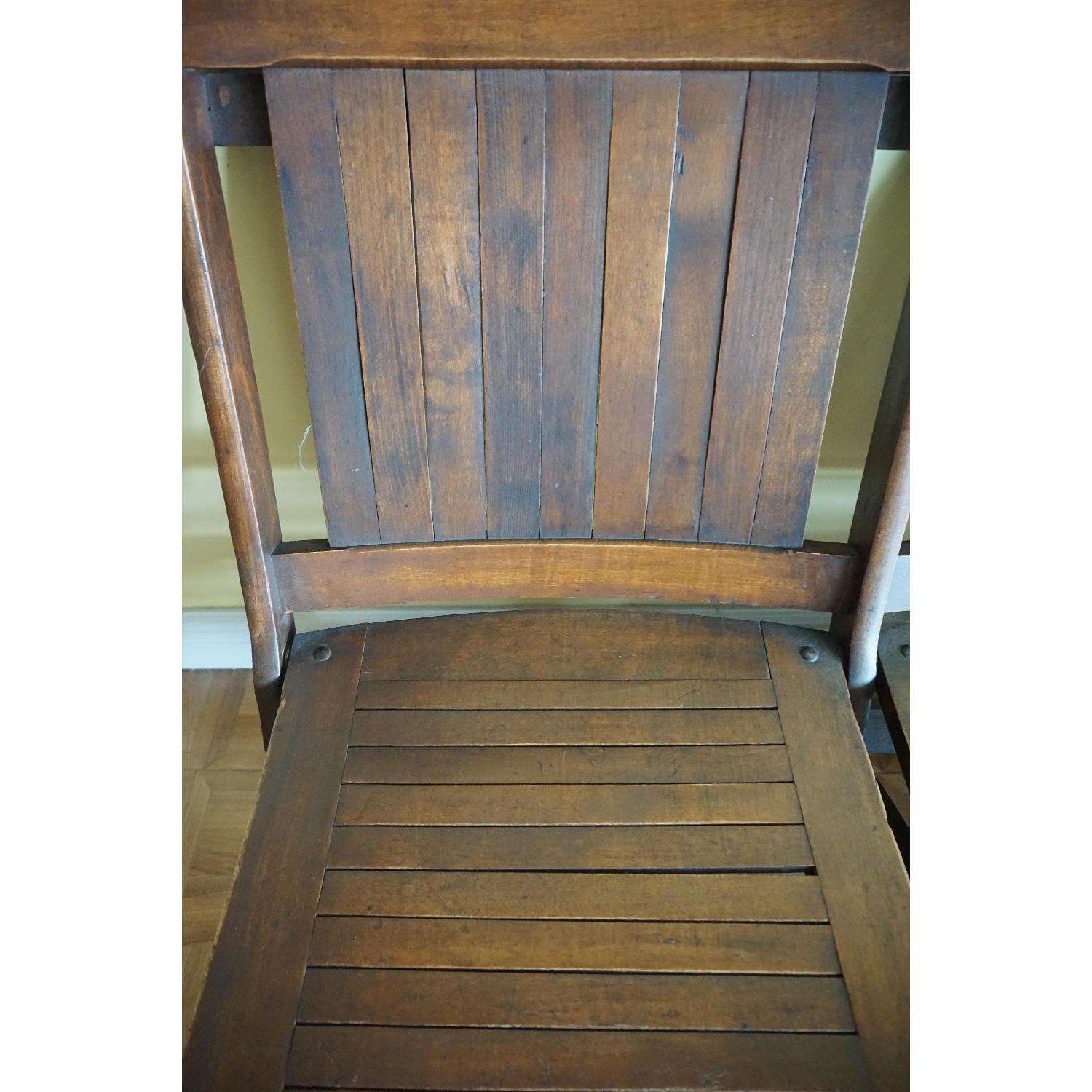 Vintage Harlem Movie Theater Wooden Bench Seats - image-4