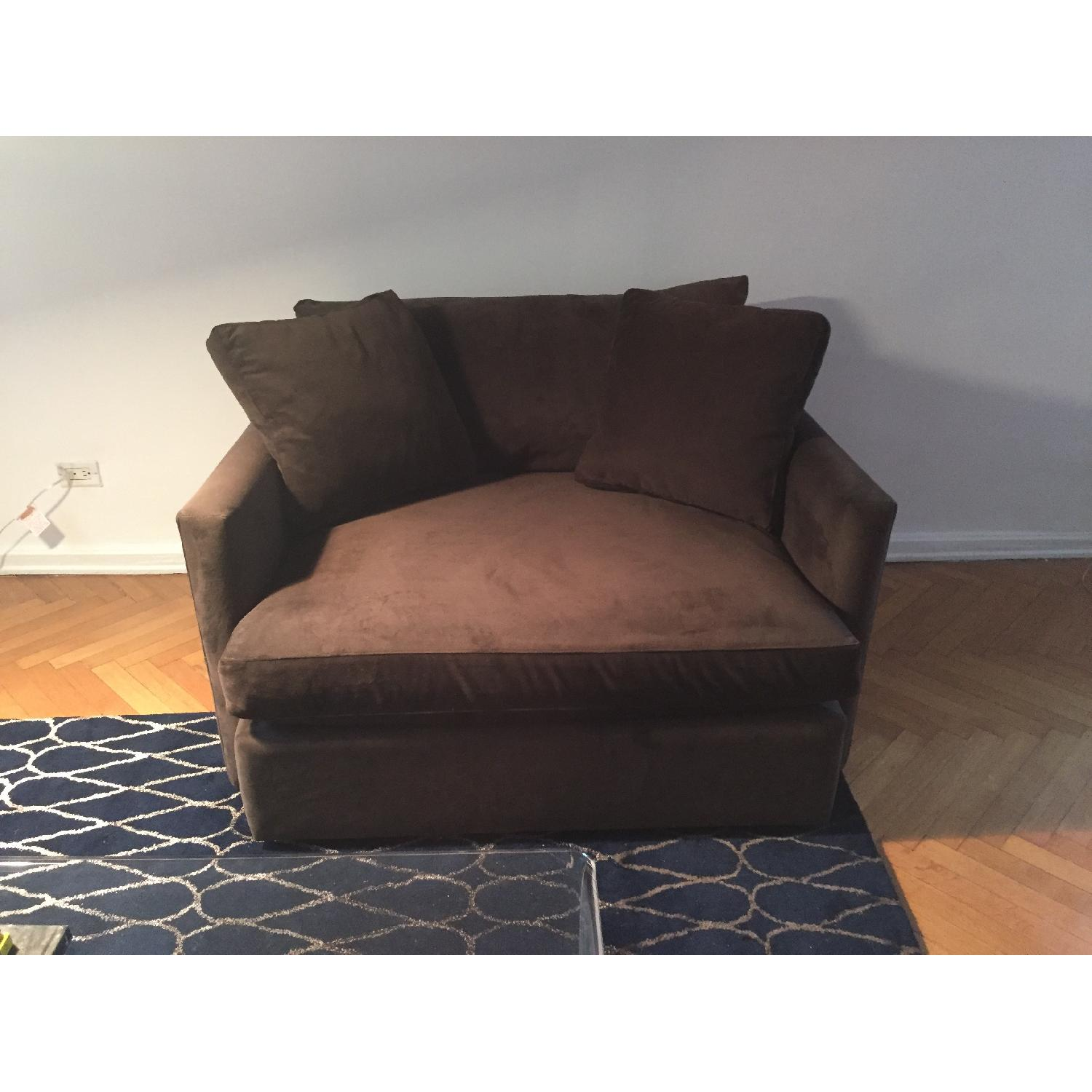 Crate & Barrel Lounge Chair and a Half - image-1