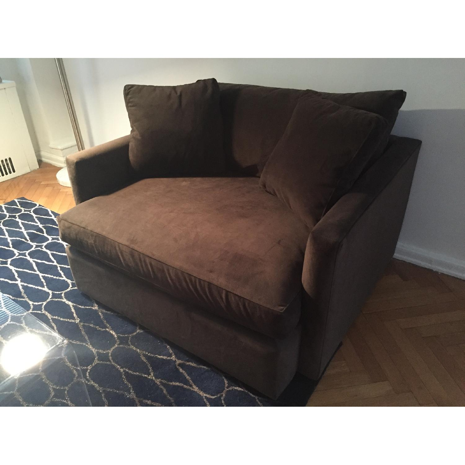 Crate & Barrel Lounge Chair and a Half - image-3