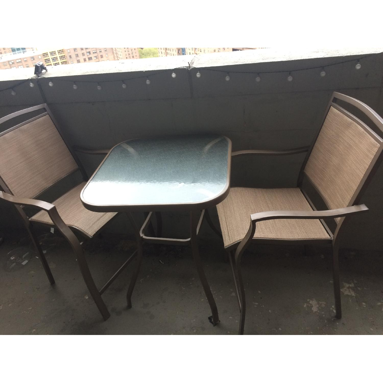 Patio Bar Table w/ 2 Chairs - image-1