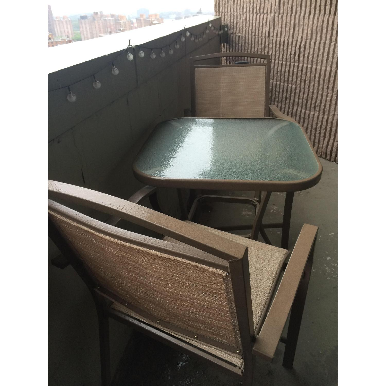 Patio Bar Table w/ 2 Chairs - image-2