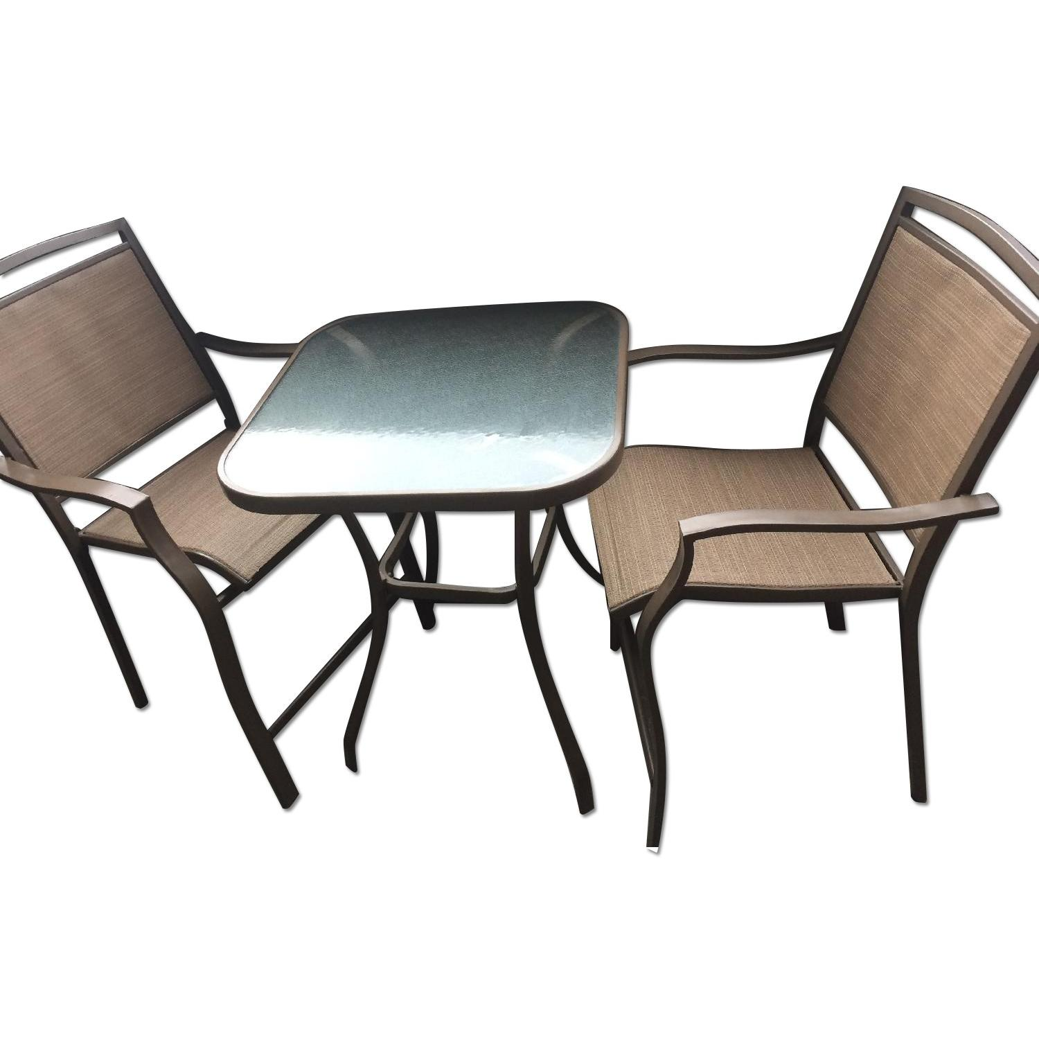Patio Bar Table w/ 2 Chairs - image-0
