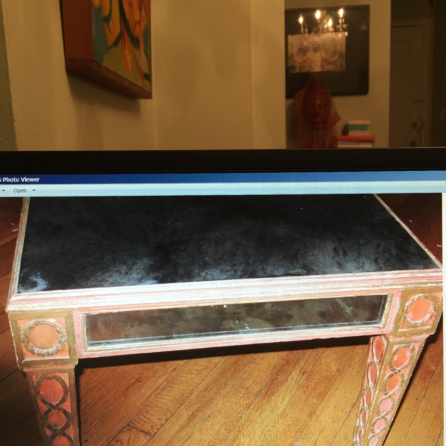Antique Mid Century Smoked Glass & Wooden Coffee Table - image-5
