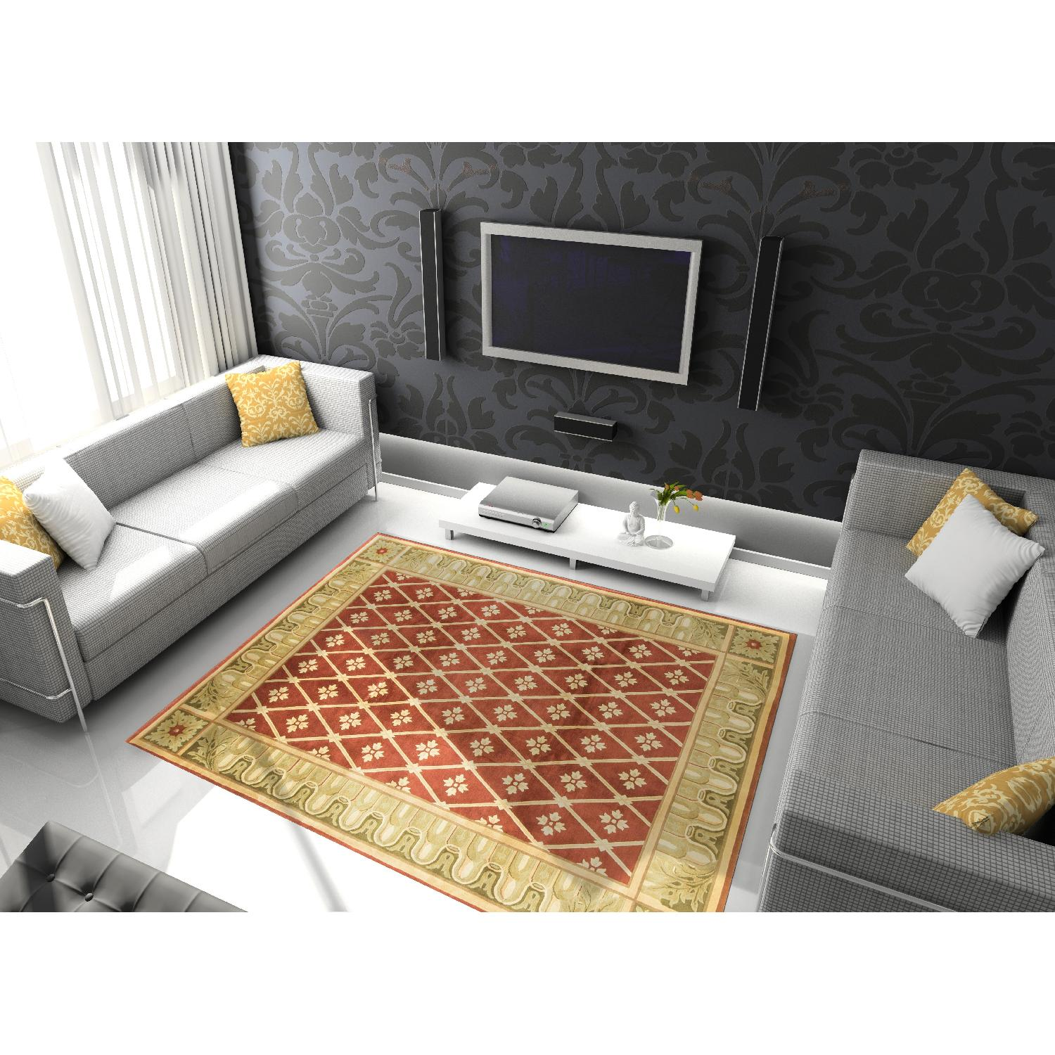 Modern Contemporary Hand Knotted Wool Rug - image-3