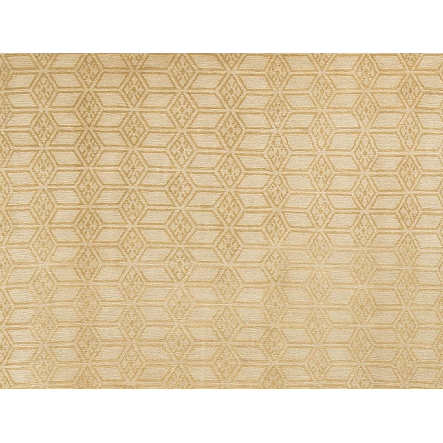 Modern Contemporary Hand Knotted Wool Rug - image-1