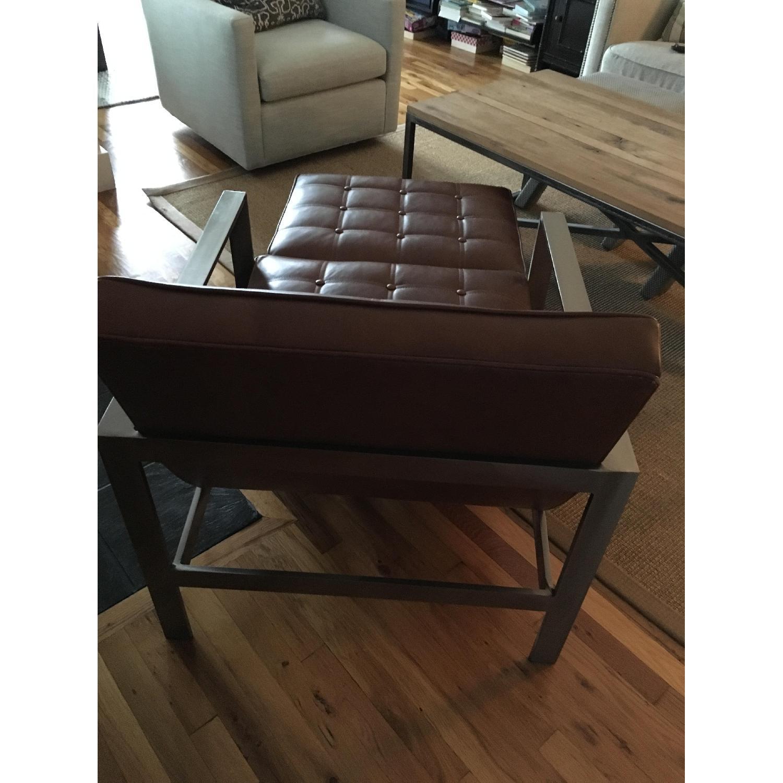 Arhaus Leather Chair & Ottoman - image-4