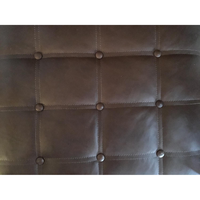 Arhaus Leather Chair & Ottoman - image-5