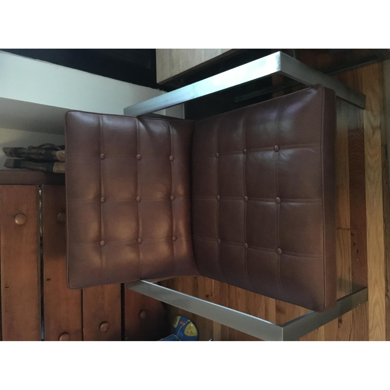 Arhaus Leather Chair & Ottoman - image-6