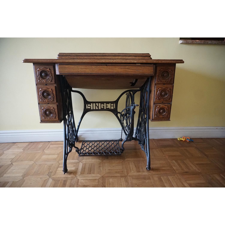 1903 Singer Sewing Machine Table - image-1