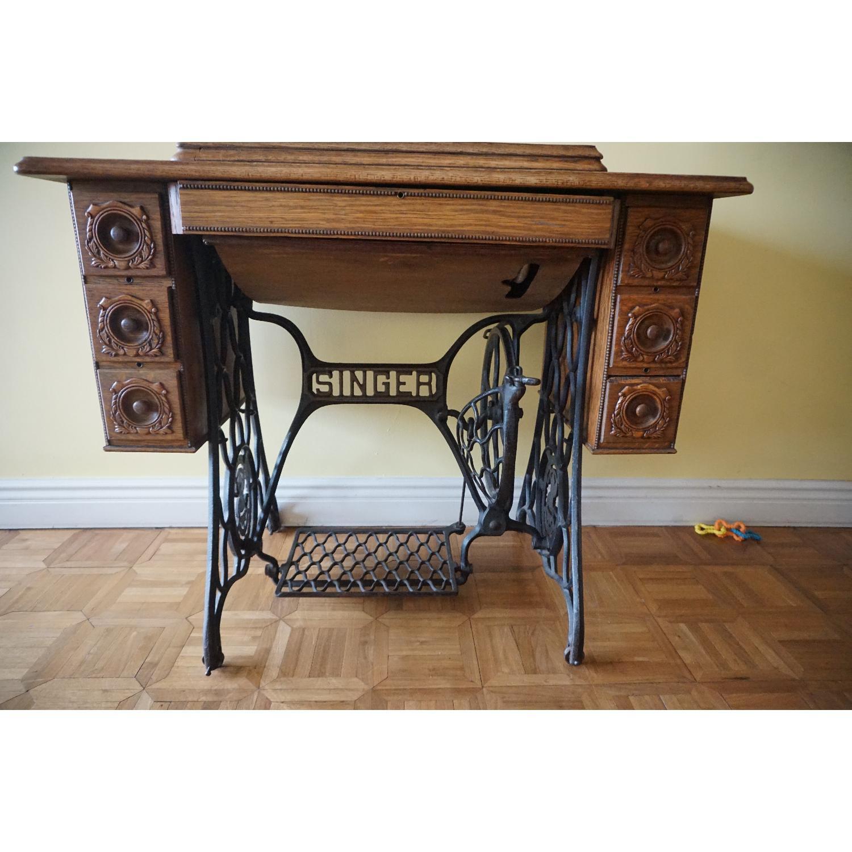1903 Singer Sewing Machine Table - image-2