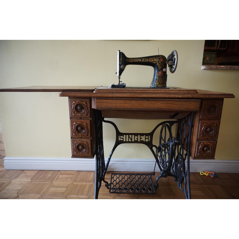 1903 Singer Sewing Machine Table - image-3