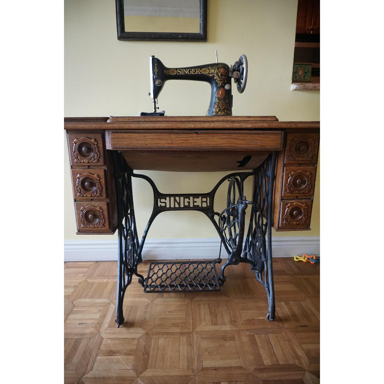 1903 Singer Sewing Machine Table - image-4