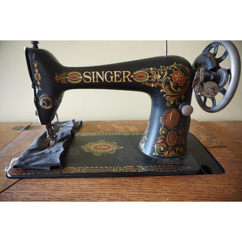 1903 Singer Sewing Machine Table - image-5