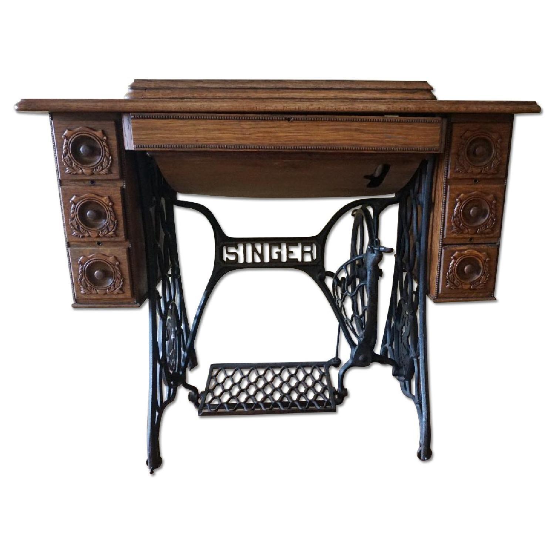 1903 Singer Sewing Machine Table - image-0