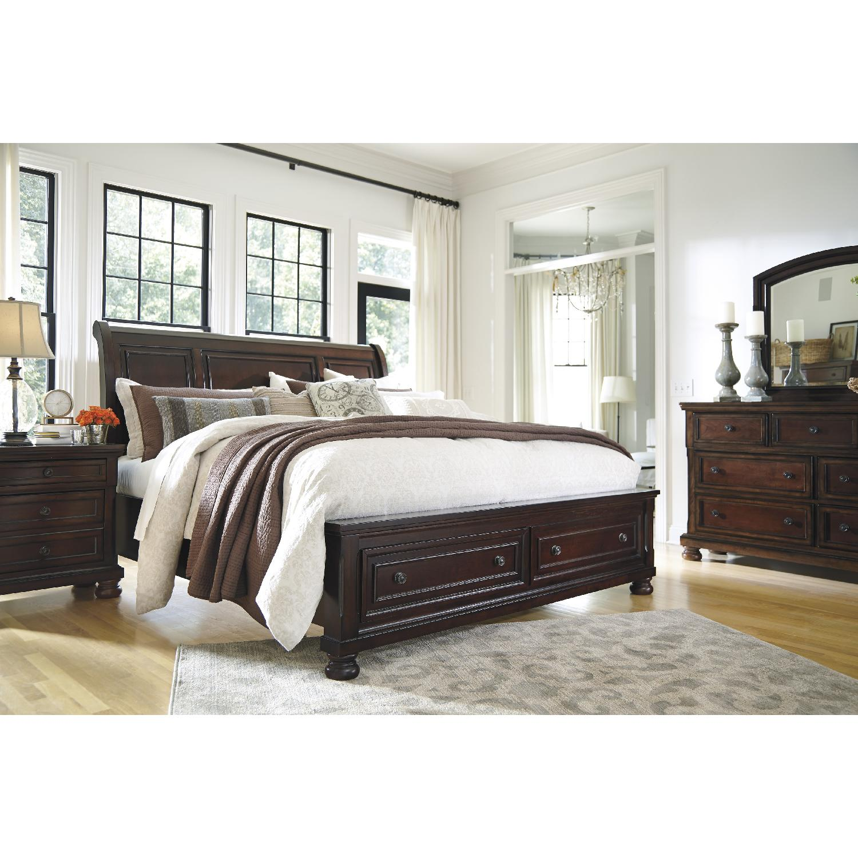 Ashley's Queen Sleigh Storage Bed - image-4