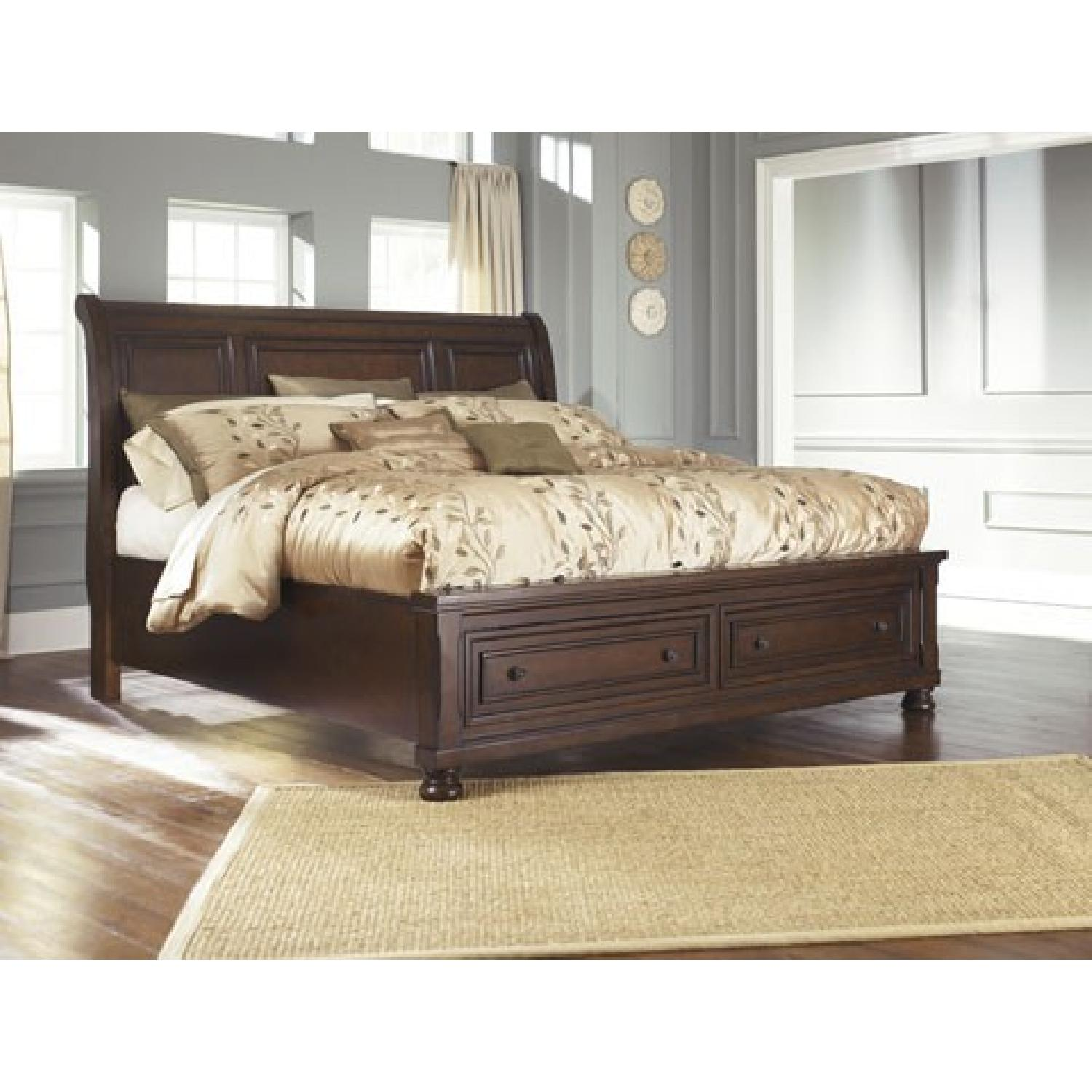 Ashley's King Sleigh Storage Bed - image-1