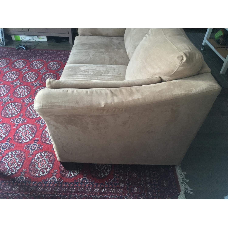 Jennifer Convertibles Beige Microfiber Sofa - image-2