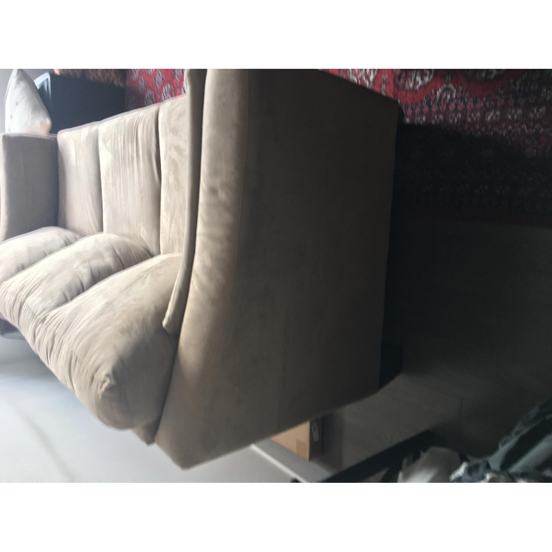 Jennifer Convertibles Beige Microfiber Sofa - image-3