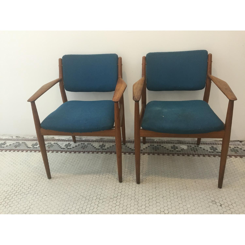 Arne Vodder Danish Mid Century Chairs - Pair - image-1
