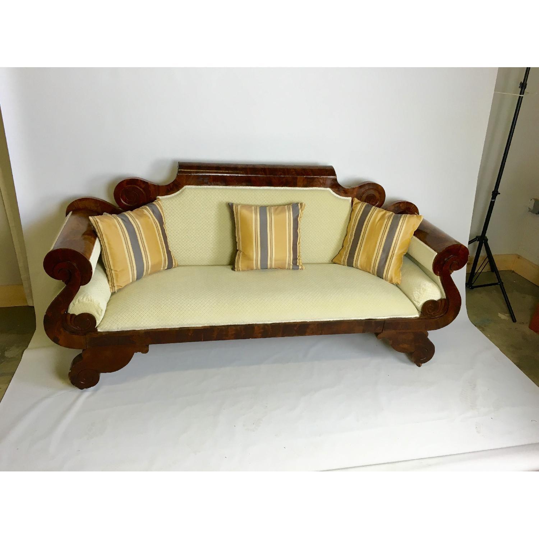 Antique Tigerwood Sofa - image-1
