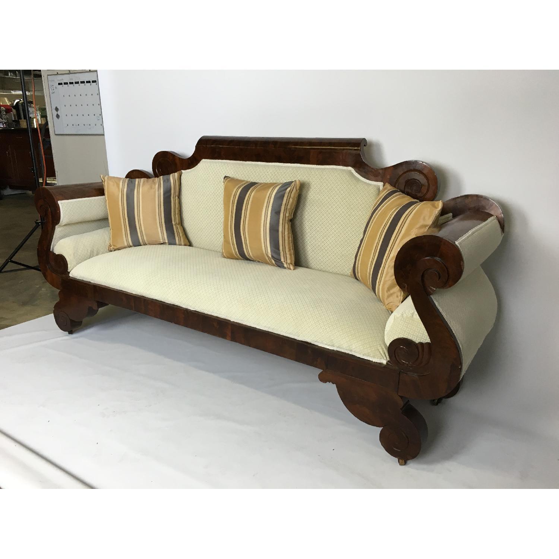 Antique Tigerwood Sofa - image-2
