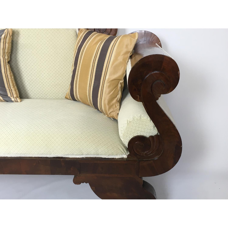 Antique Tigerwood Sofa - image-6