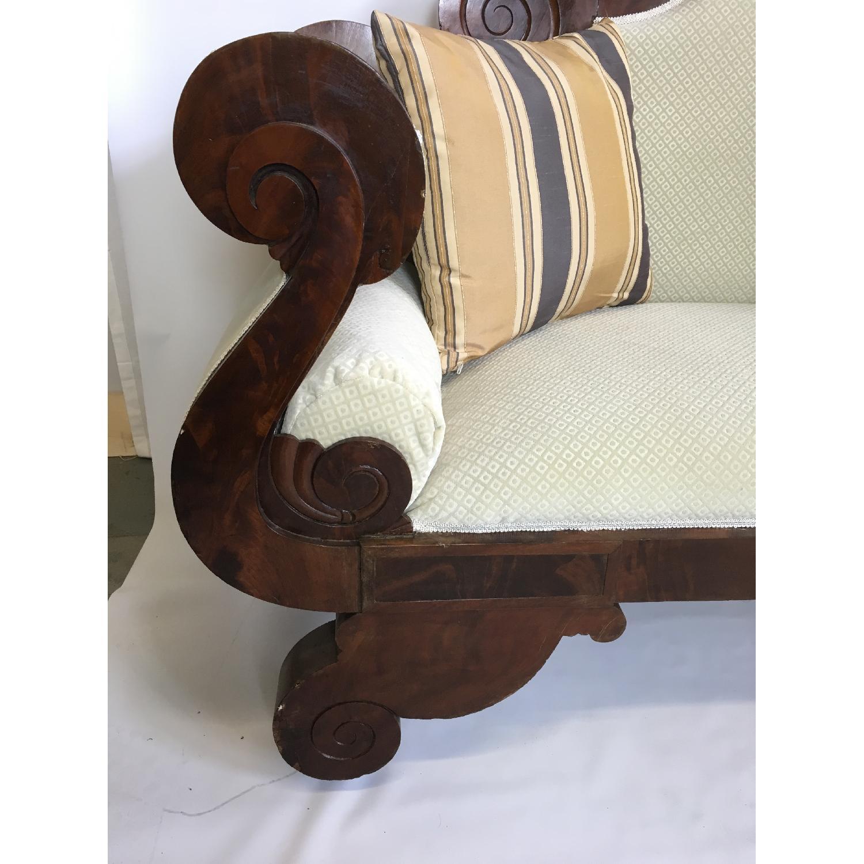 Antique Tigerwood Sofa - image-8