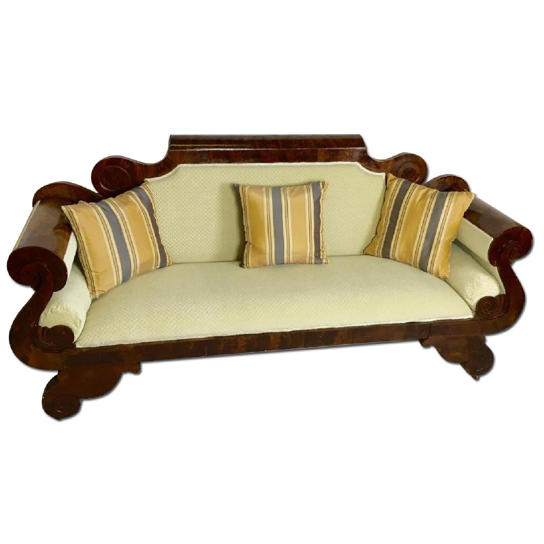 Antique Tigerwood Sofa - image-0
