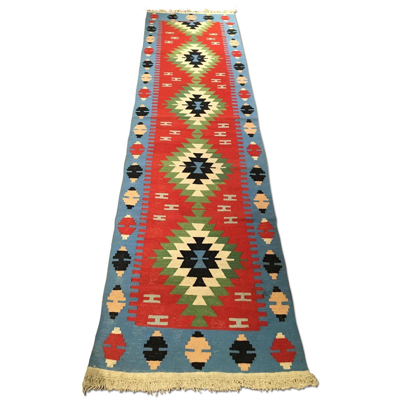 Handmade Turkish Kilim Runner - image-0