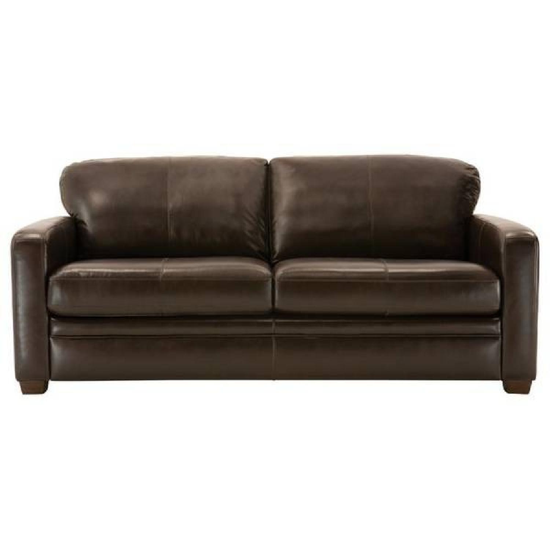 Raymour & Flanigan Leather Sofa - image-1