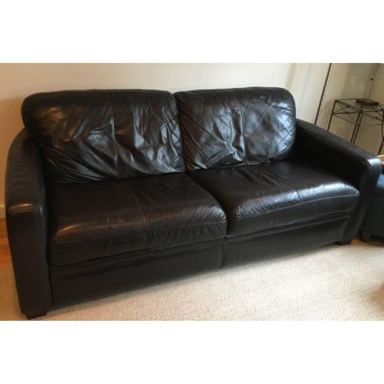 Raymour & Flanigan Leather Sofa - image-3