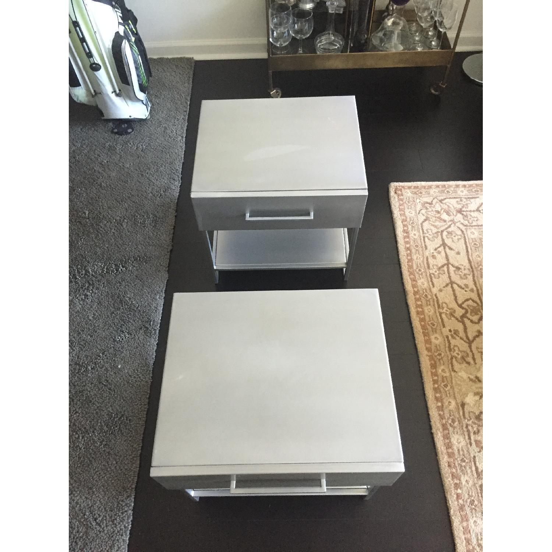Crate & Barrel Nightstands - Pair - image-1