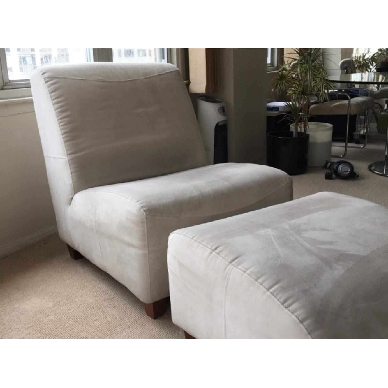 Italia Divani/Camel Group Lounge Chair & Ottoman - image-1