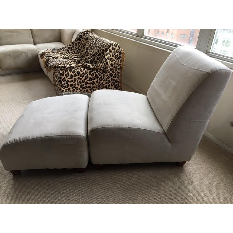 Italia Divani/Camel Group Lounge Chair & Ottoman - image-2