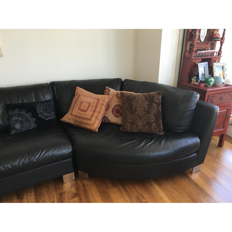 Black Leather sofa - image-4