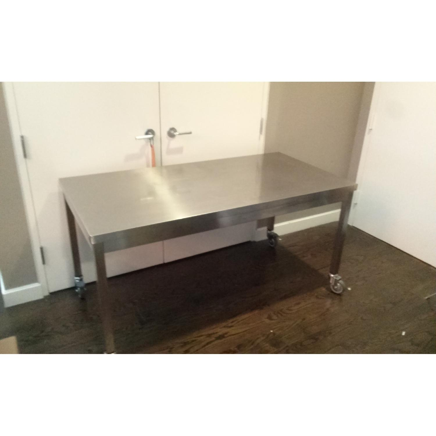 Design Within Reach Quovis Stainless Steel Table - image-2
