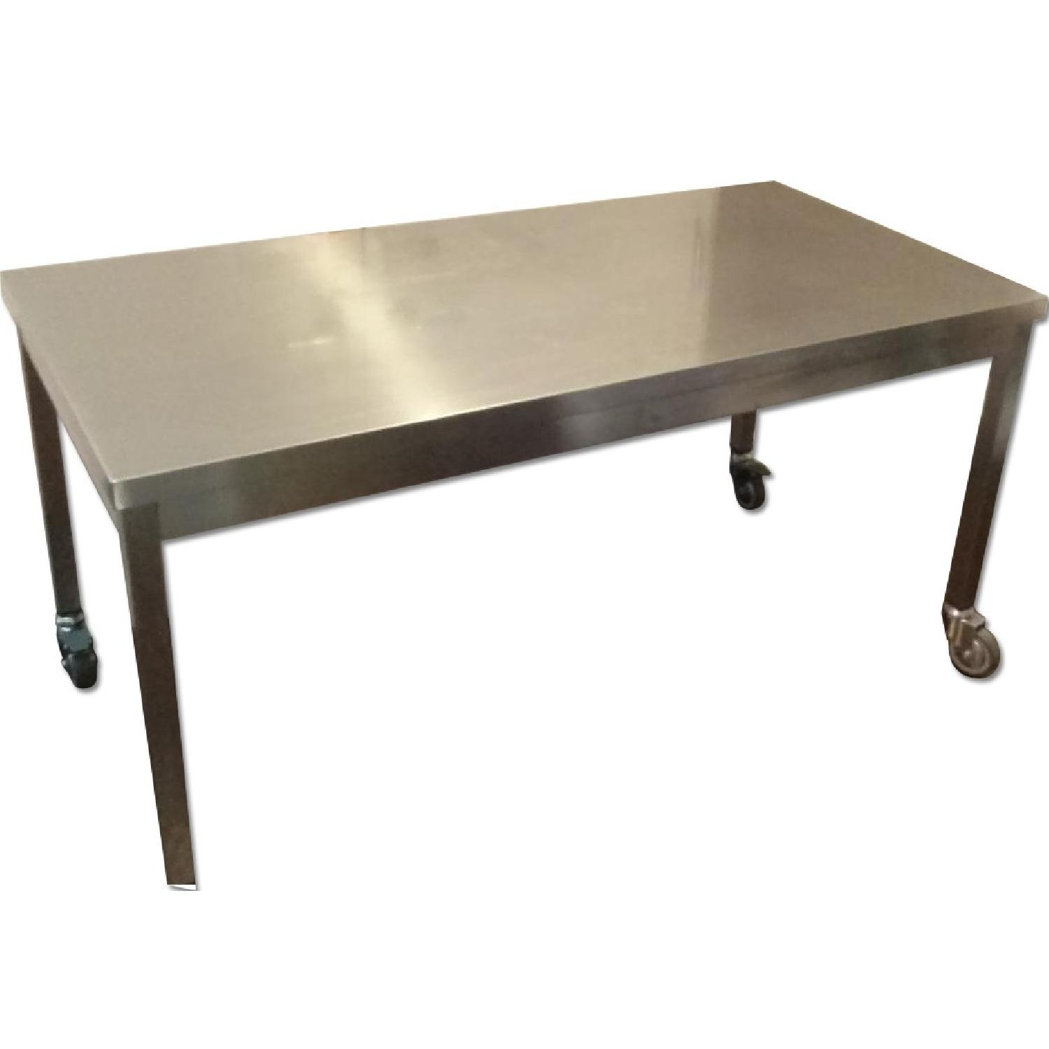 Design Within Reach Quovis Stainless Steel Table - image-0