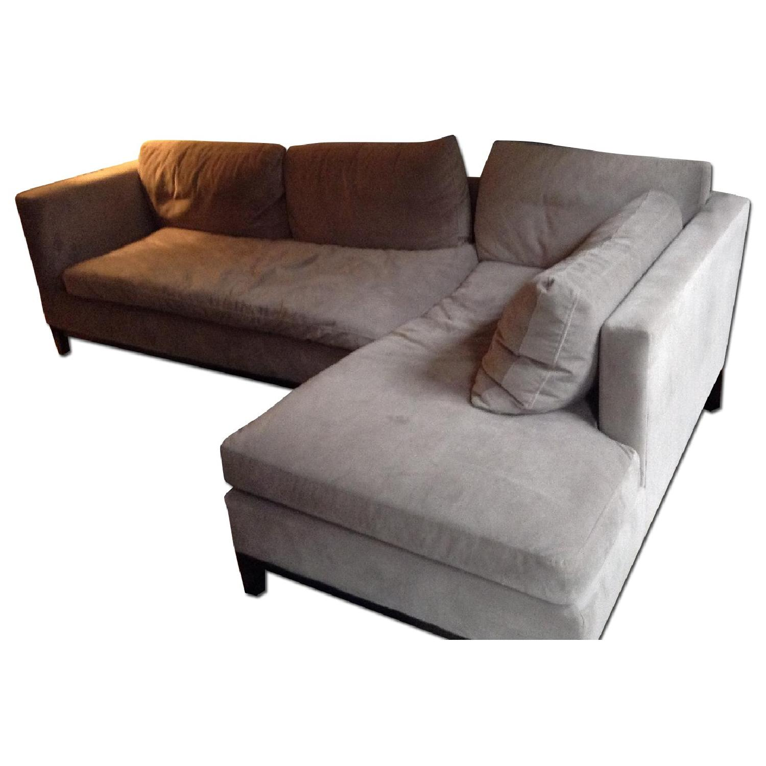West Elm Blake Sectional Sofa w/ Chaise - image-0