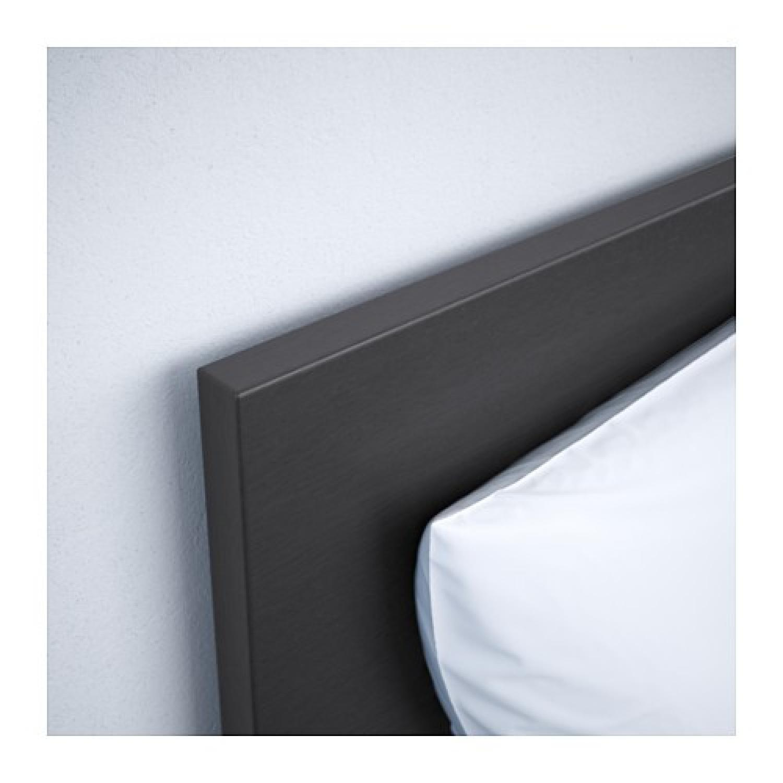 Ikea Malm High Bed Frame w/ Slats in Black-Brown - image-2