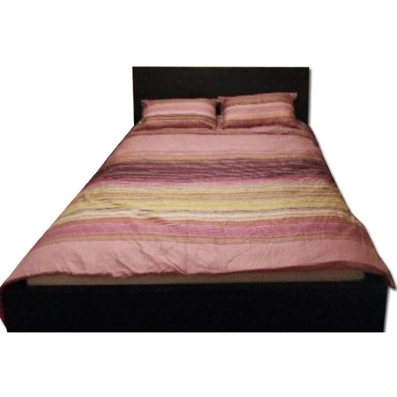 Ikea Malm High Bed Frame w/ Slats in Black-Brown - image-0