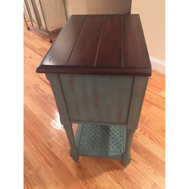 Rustic/Antique/Blue Vintage Accent Table - 2 Avaialble - image-2