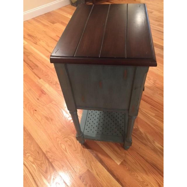Rustic/Antique/Blue Vintage Accent Table - 2 Avaialble - image-4