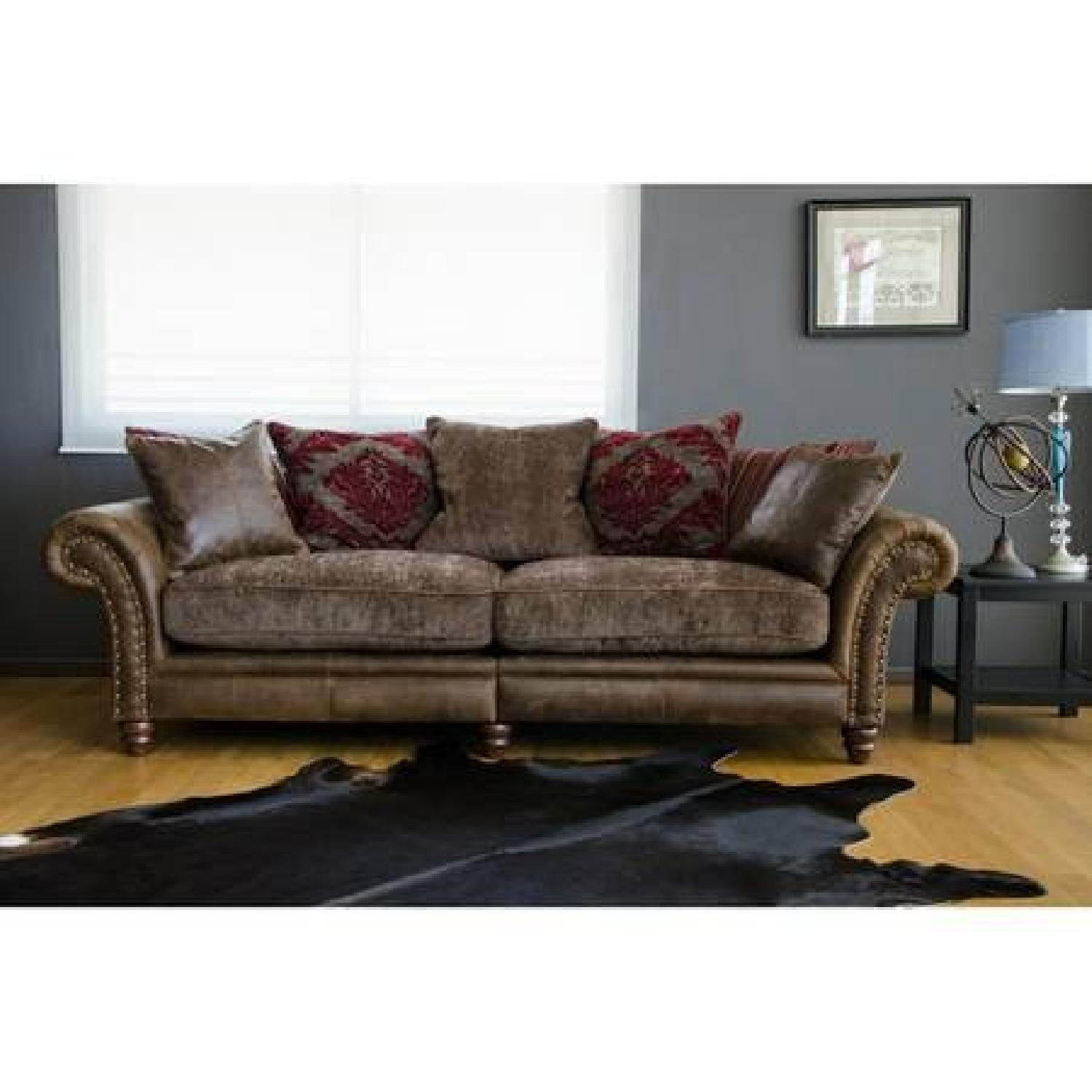 Victorian-Inspired Leather Sofa - image-1