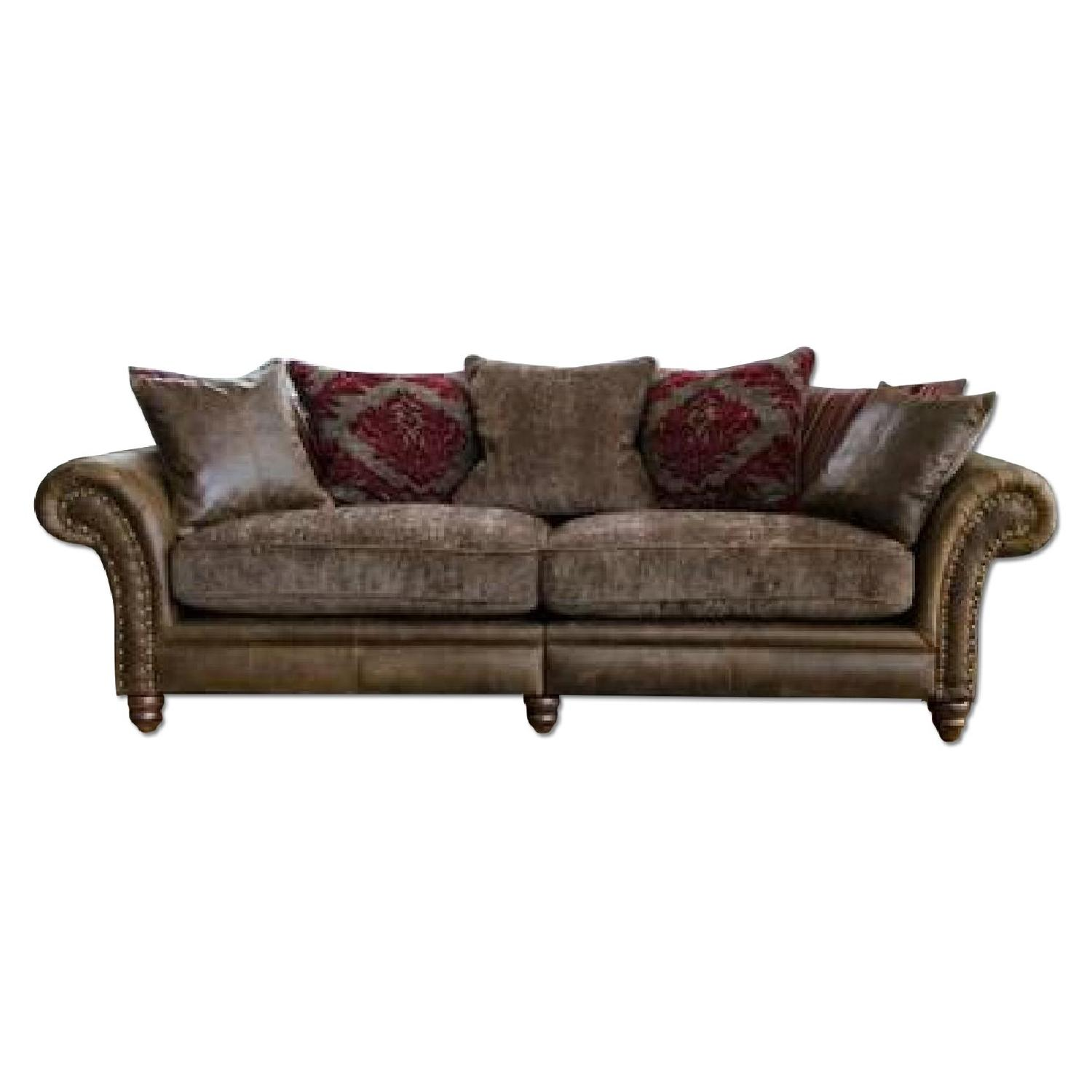 Victorian-Inspired Leather Sofa - image-0