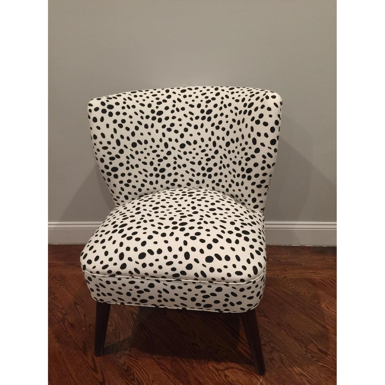 Skyline Furniture Togo Black & White Armless Chair - 2 Avail - image-2