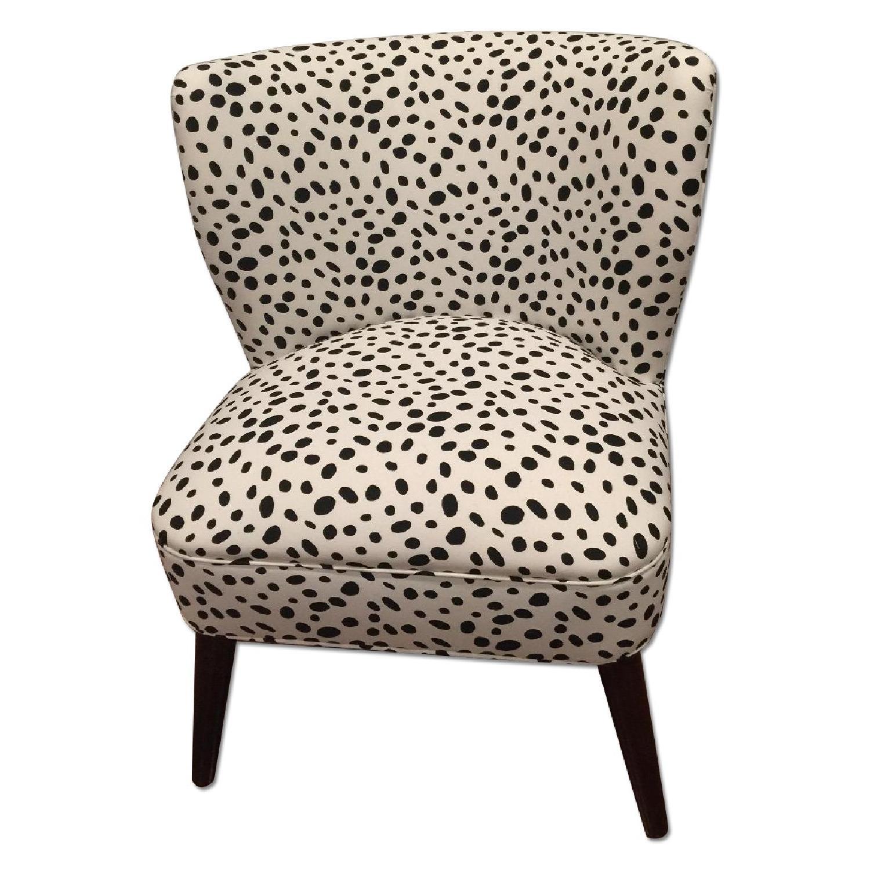 Skyline Furniture Togo Black & White Armless Chair - 2 Avail - image-0