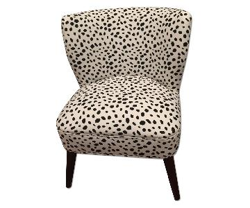 Skyline Furniture Togo Black & White Armless Chair - 2 Available