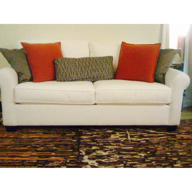 ABC Carpet and Home Wool & Silk Nepal Rug in Orange, Black & Silver - image-3