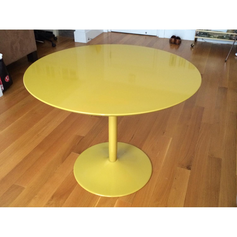 CB2 Yellow Tulip-Bottom Dining Table - image-1