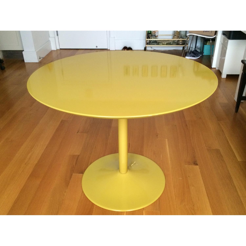 CB2 Yellow Tulip-Bottom Dining Table - image-2